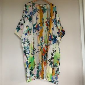 Colorful Linen Kimono - one size fits all